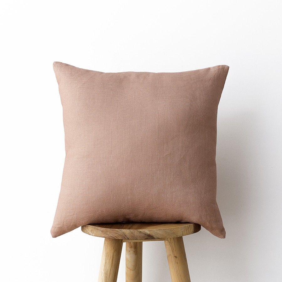 Linho almofada rosa 45x45