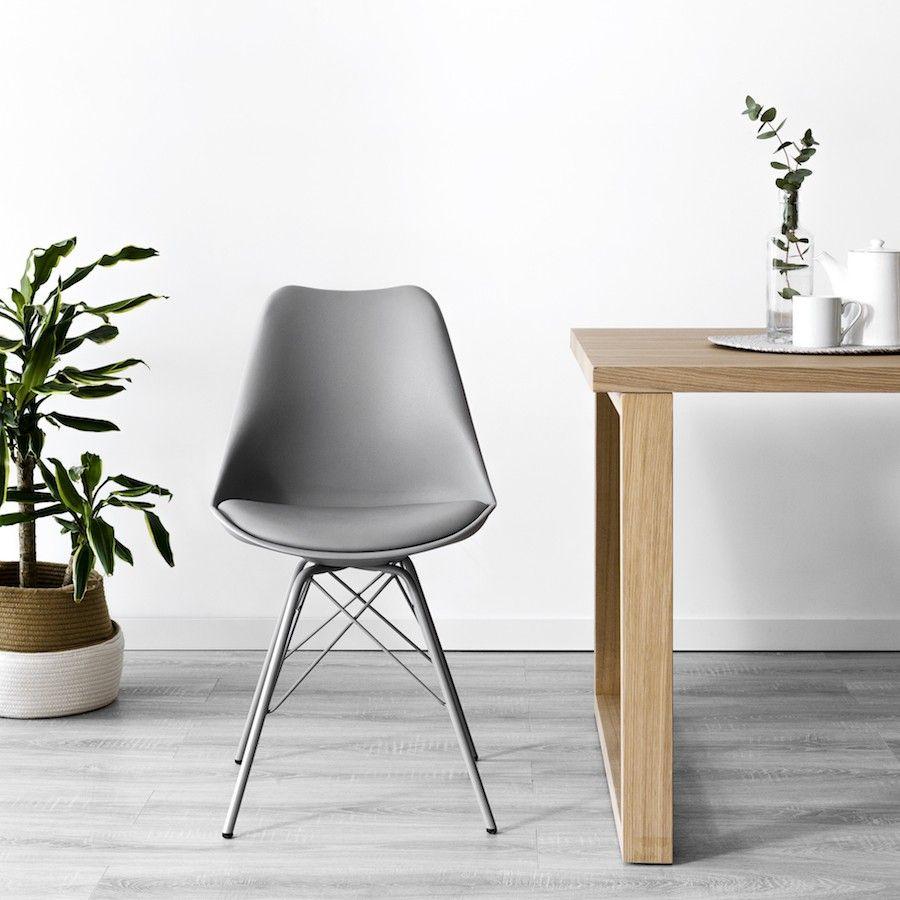 Rass cadeira cinzento c/pernas metal