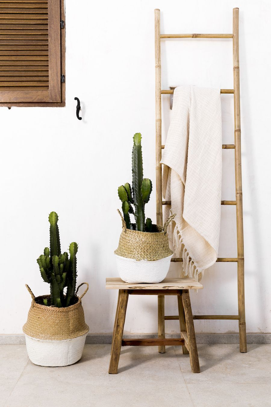 Bamboo escalera natural