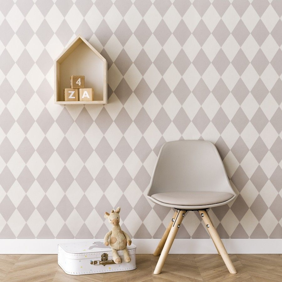 Harlequin wallpaper gris