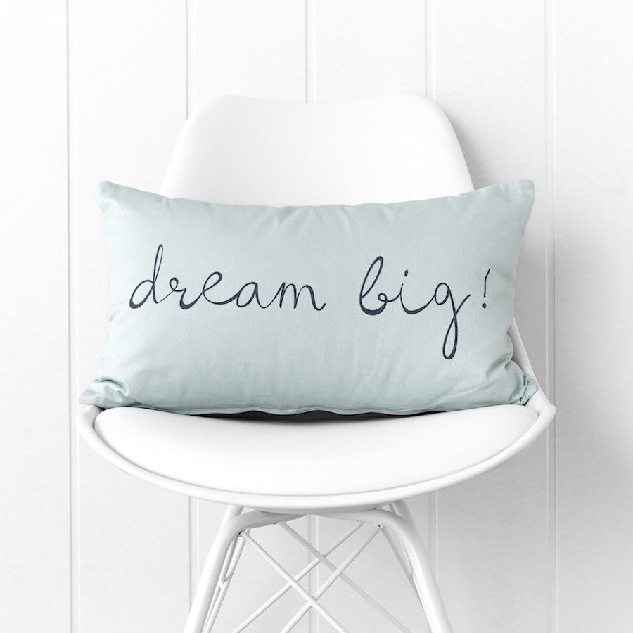 Dream big almofada menta 30x50