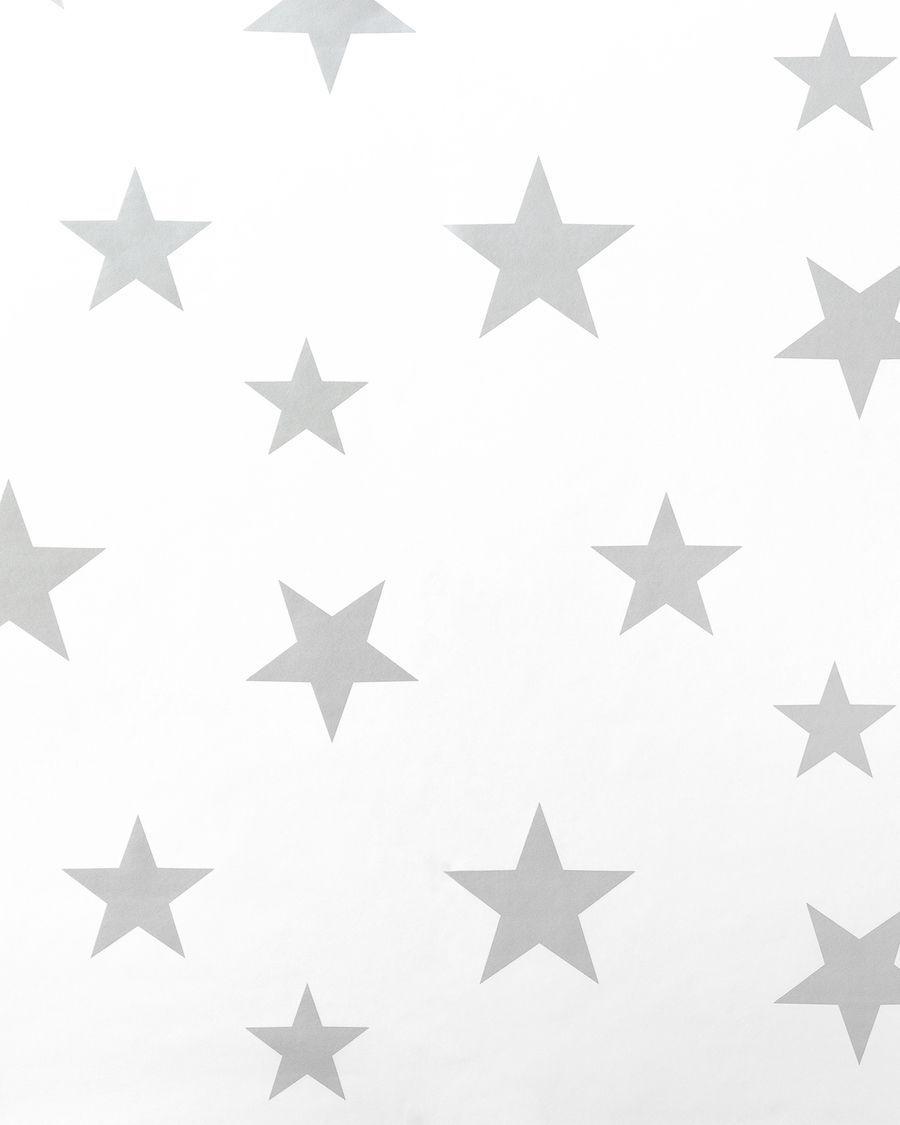 Stars wallpaper cinzento/branco