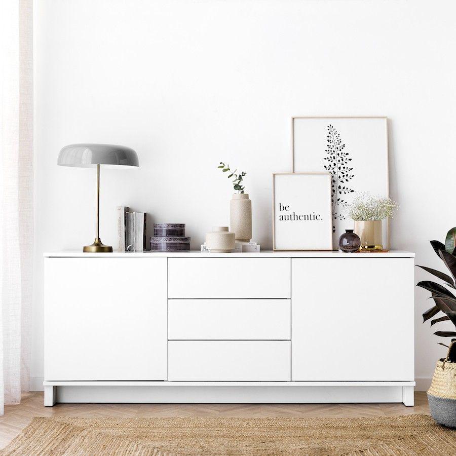 Mueble tv trend lacado blanco kenay home - Mueble lacado blanco ...