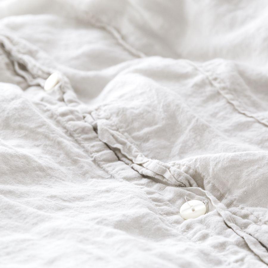 Lino capa de edredão branco Pedra