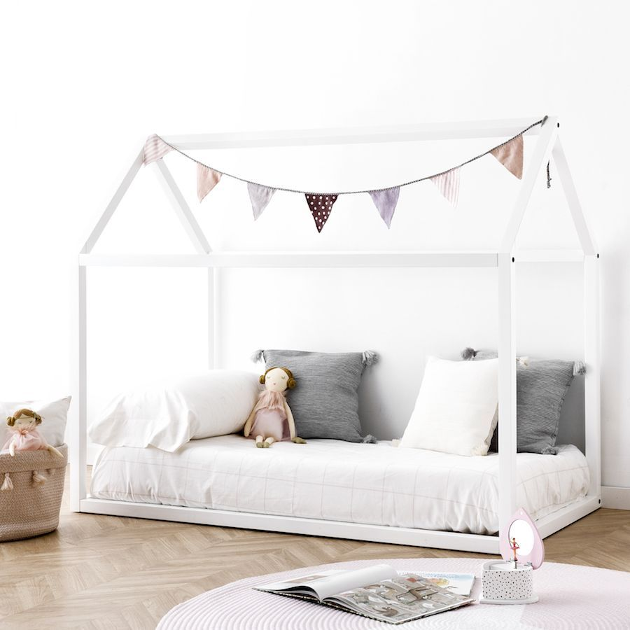 Mini cama casinha branca