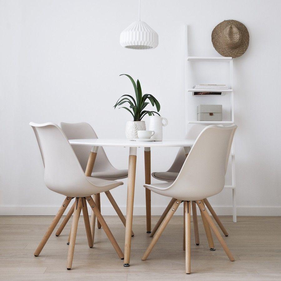 Slow mesa de refeição/cozinha redonda