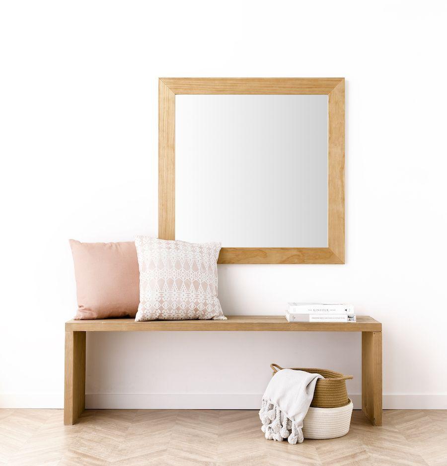 Lise Espelho Natural 90X90