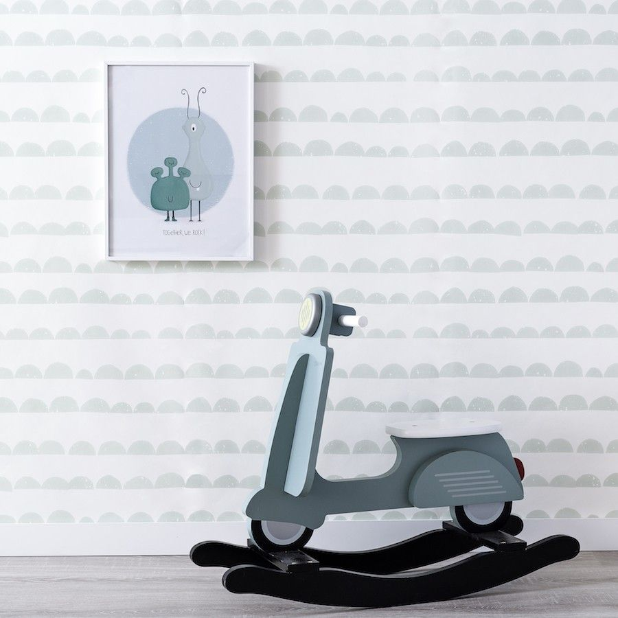 Half Moon wallpaper menta