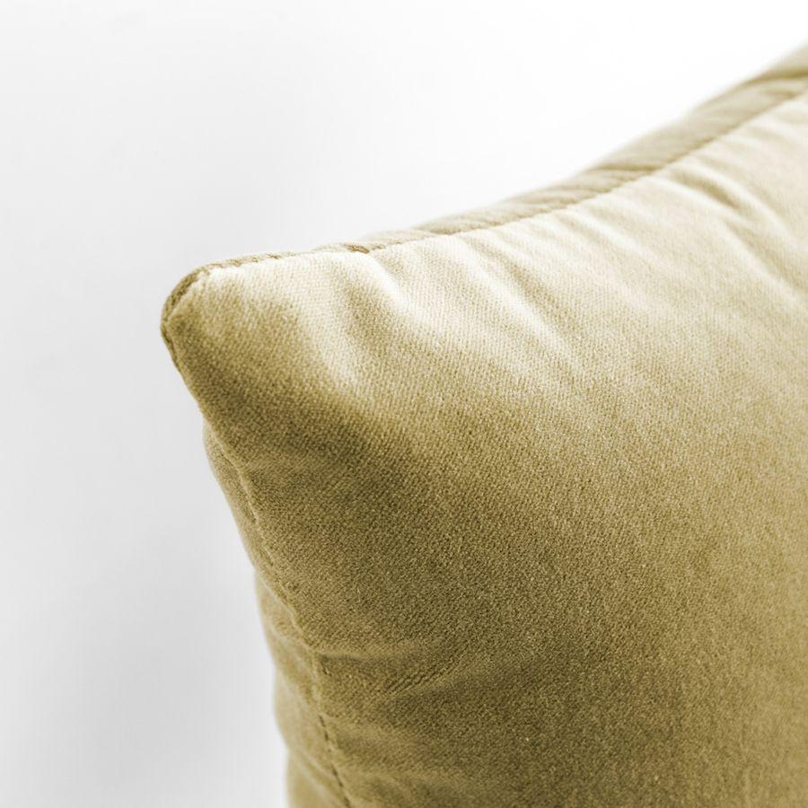 Velvet almofada mostarda 50x50