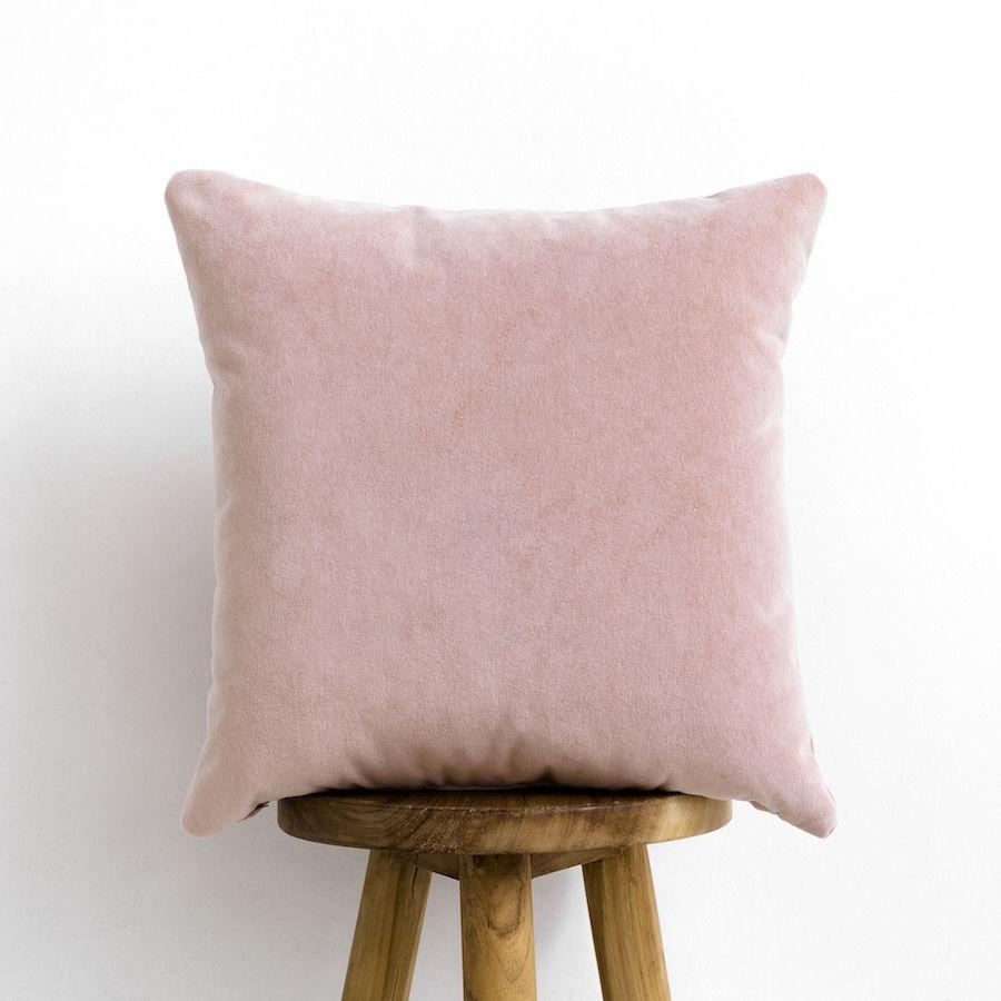 Velvet cojín rosa blush
