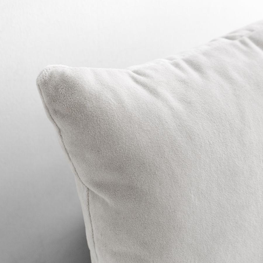 Velvet almofada cinzento pérola