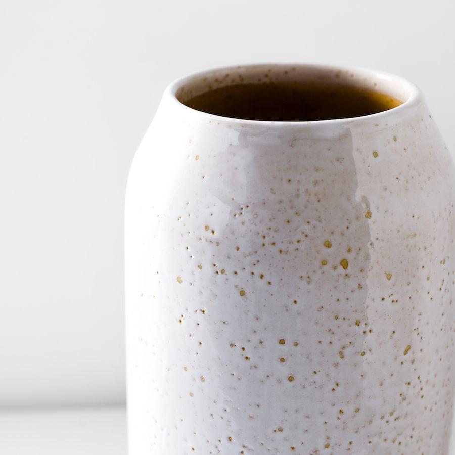 Rustic jarrón mostaza