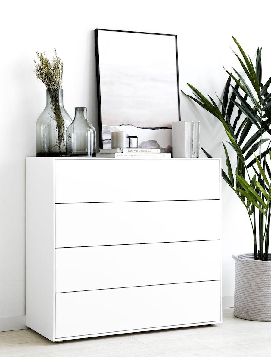 Lure cómoda 4 gavetas branca