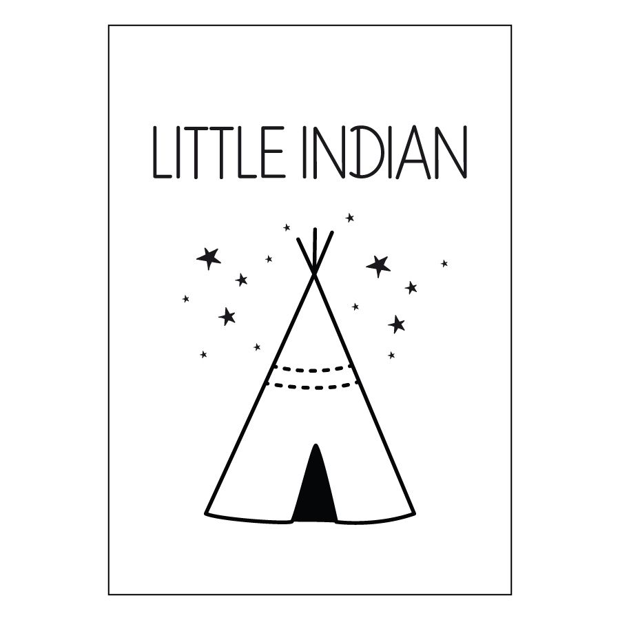 Little indian lámina A3