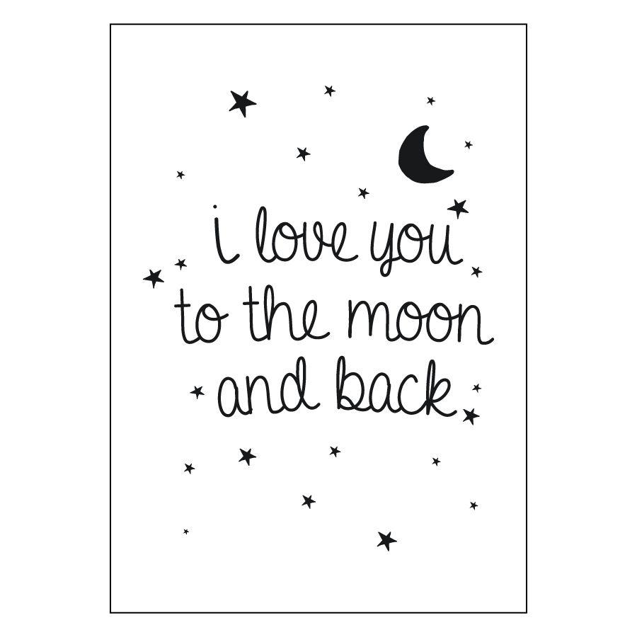 Moon lámina blanco A4