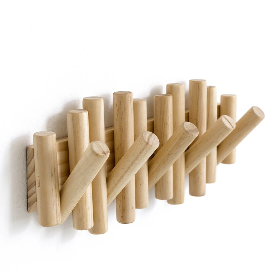Wood perchero