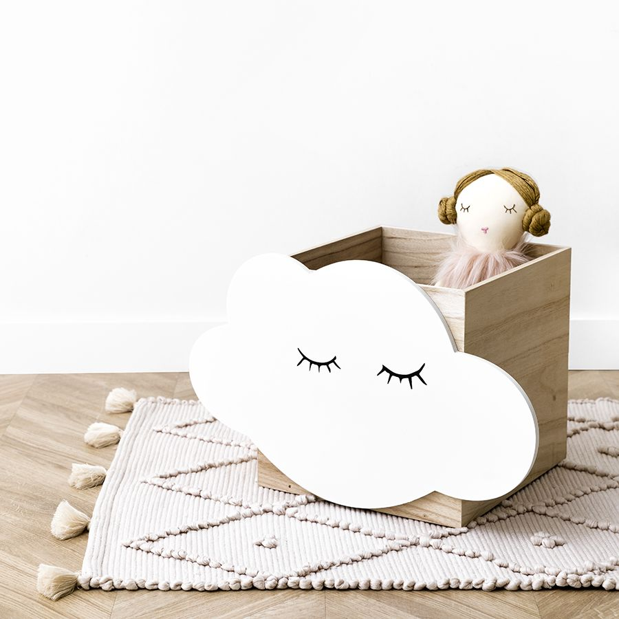 Cloud cajita de madera