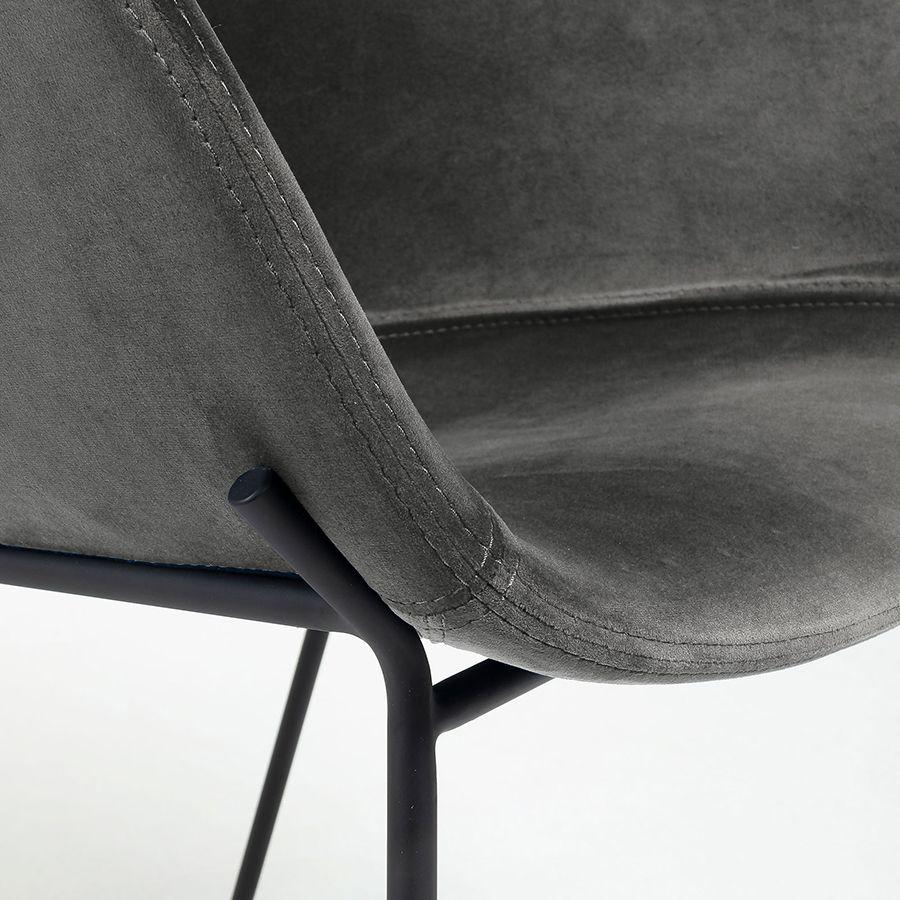 Zane taburete alto gris