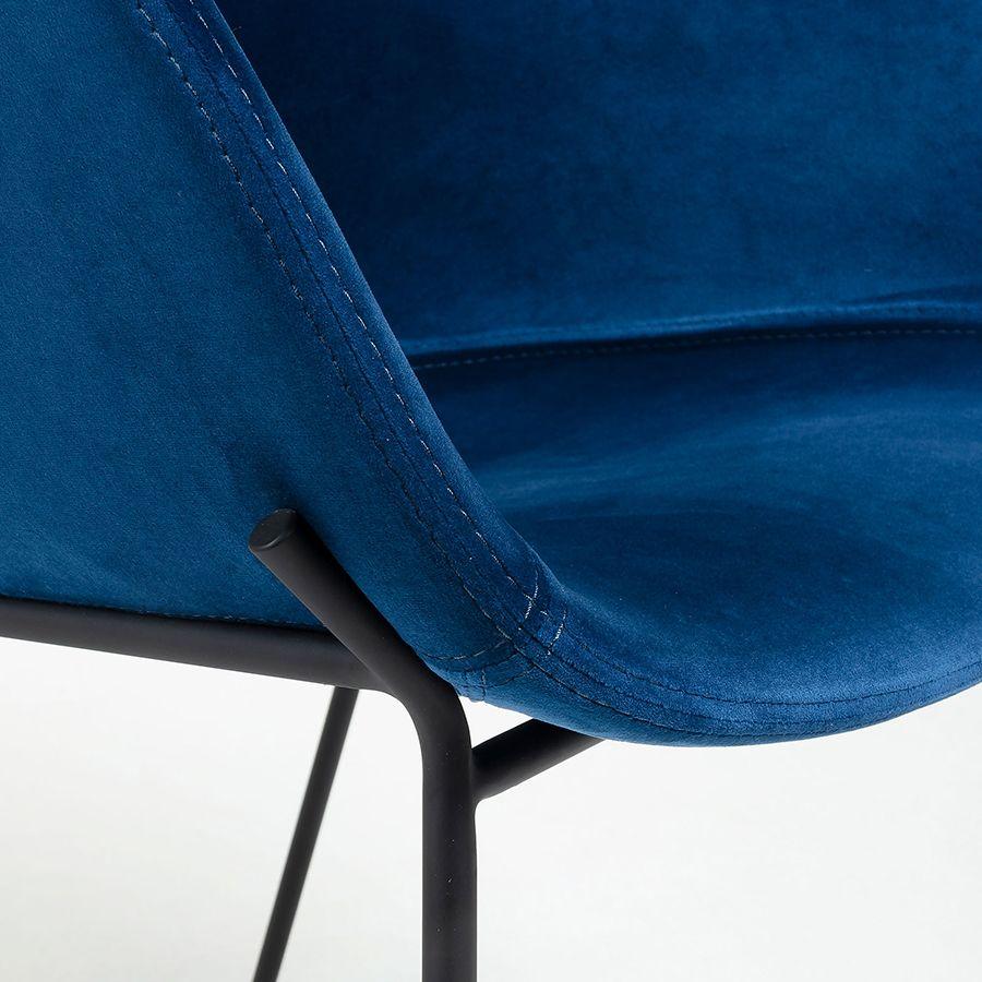 Zane taburete alto azul