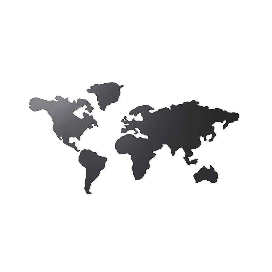 World mapa negro