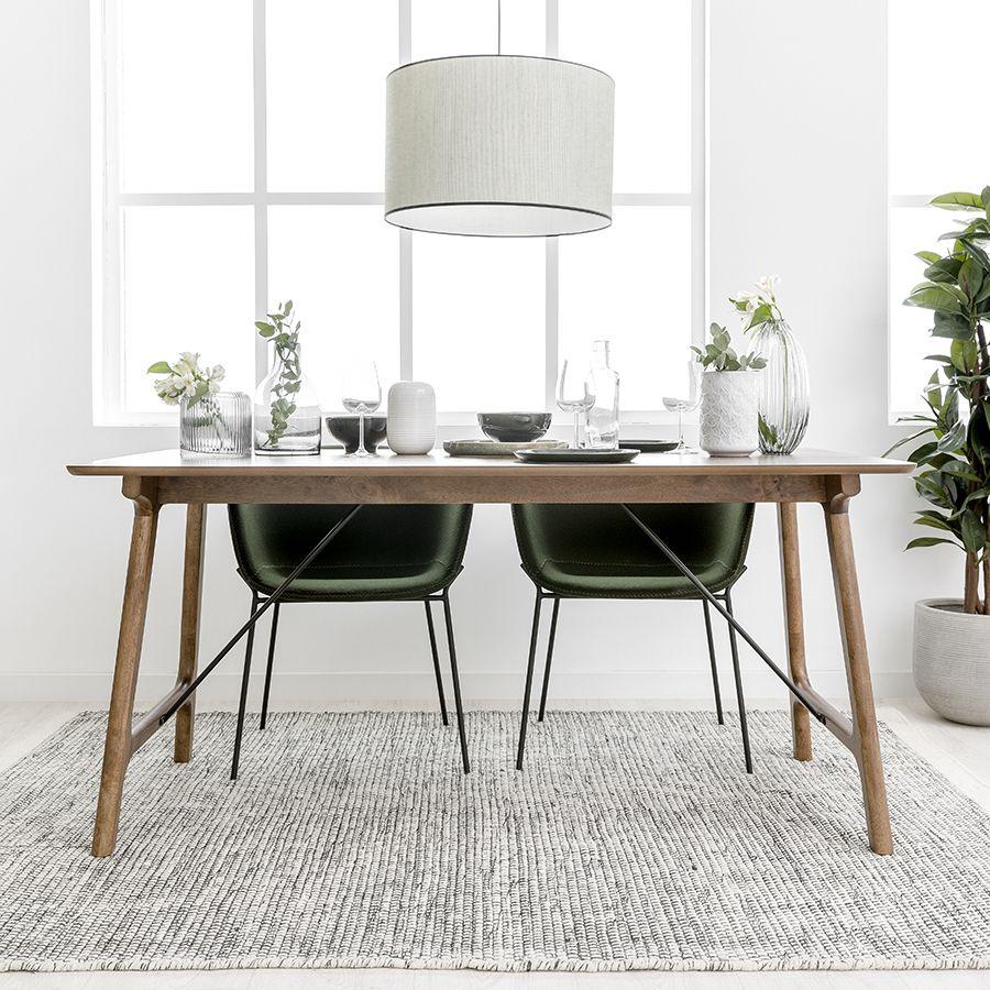 Ash mesa de nogueira 160cm