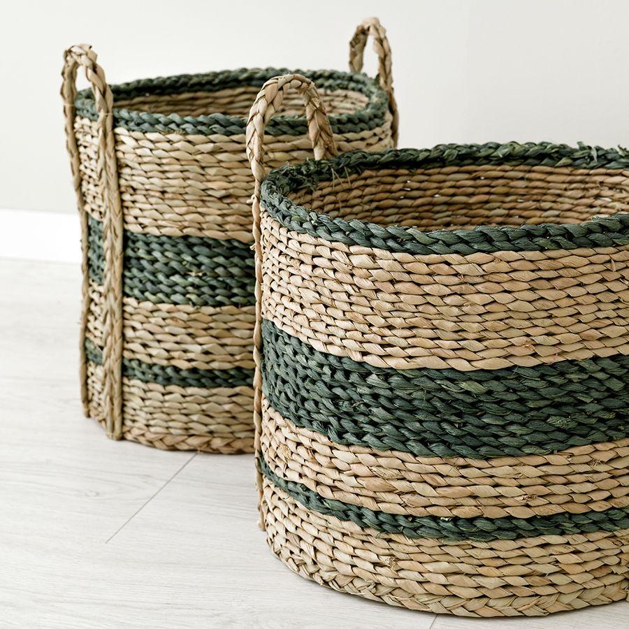 Jung set de 2 cestos verde