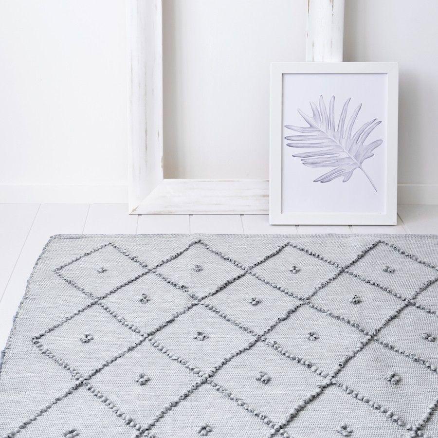 Quad alfombra gris claro 180x250 cm
