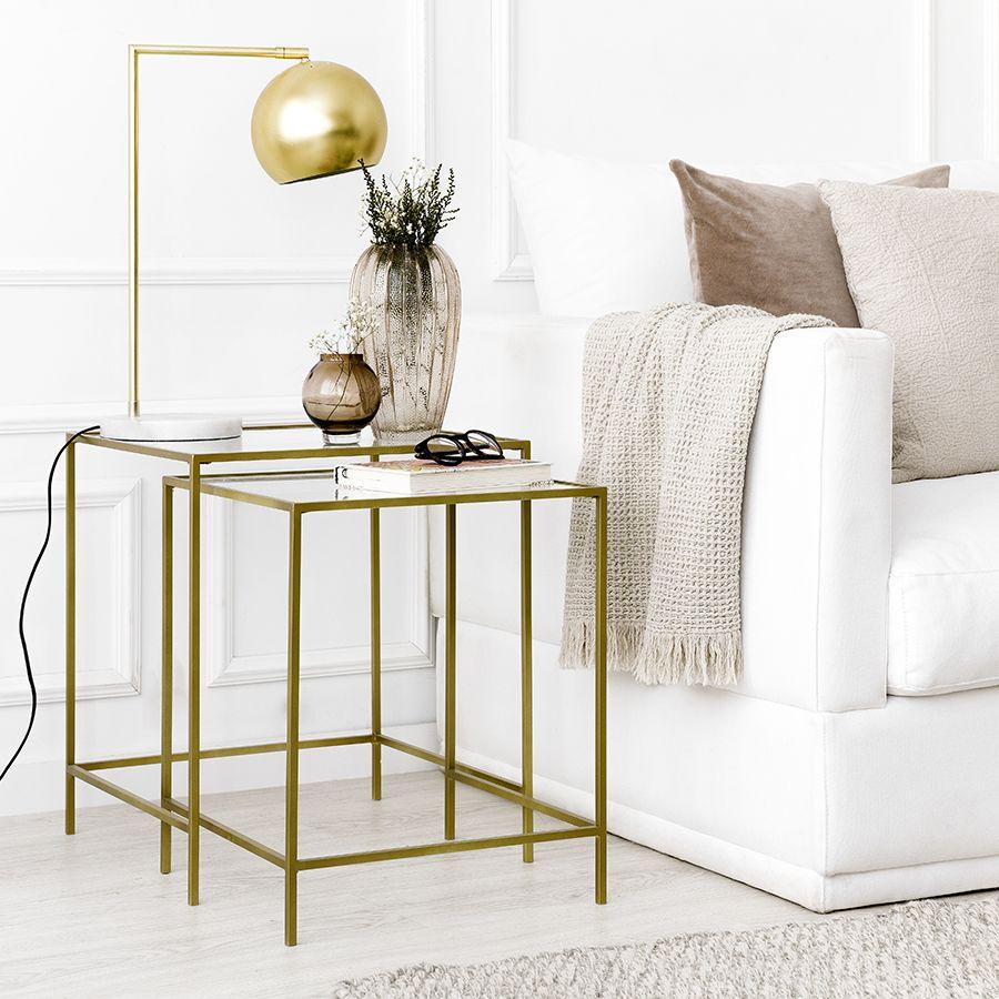 Gold set mesas nido