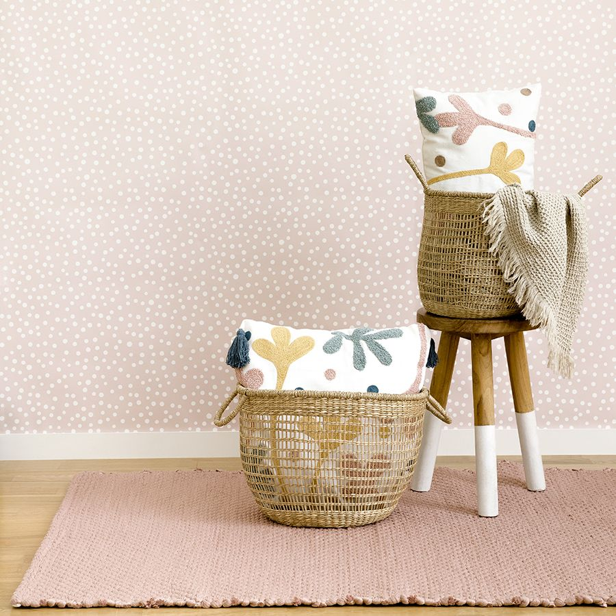 Braid alfombra rosa grande