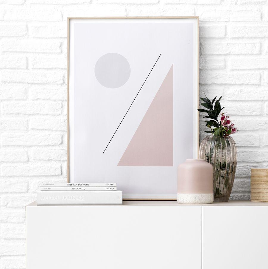 Trya lámina 2 rosa 30x40 cm