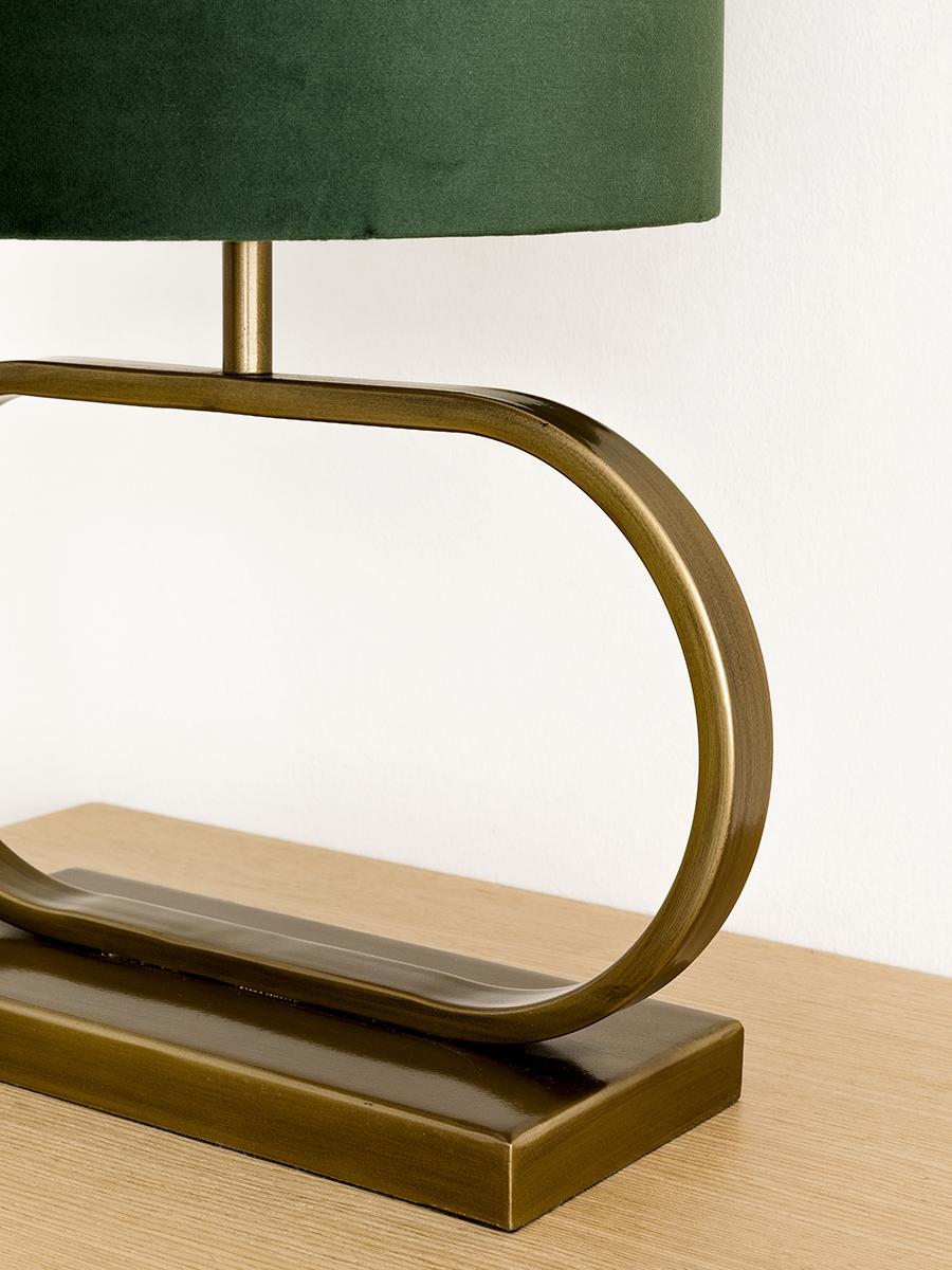 Ring lámpara verde