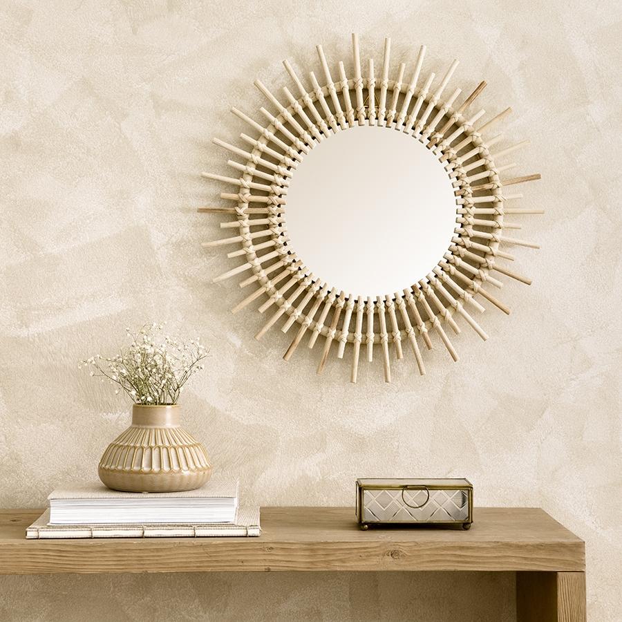 Saule espelho rattan