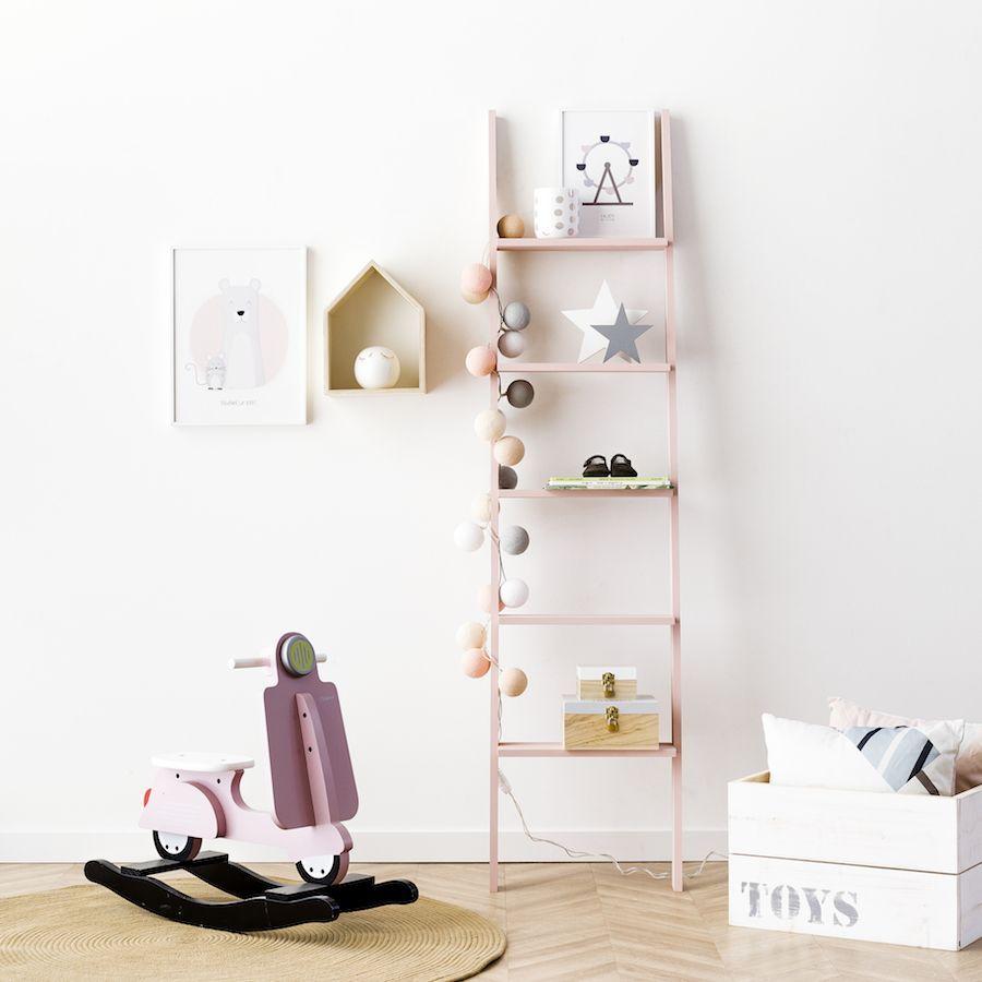 Nussa scala mensole rosa