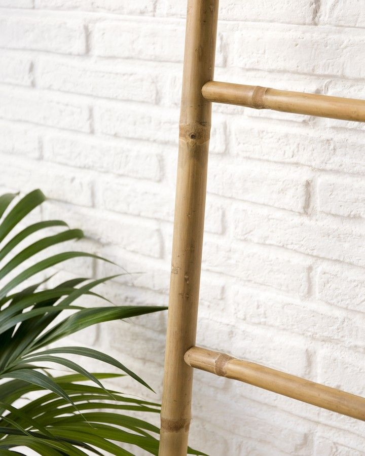 Bamboo escalera natural
