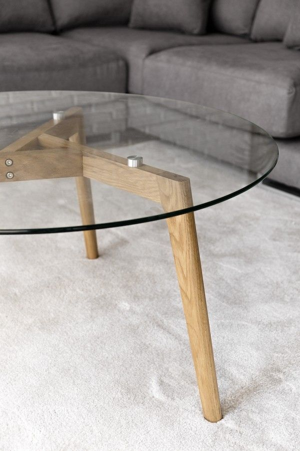Tavolino in vetro da salotto Skan