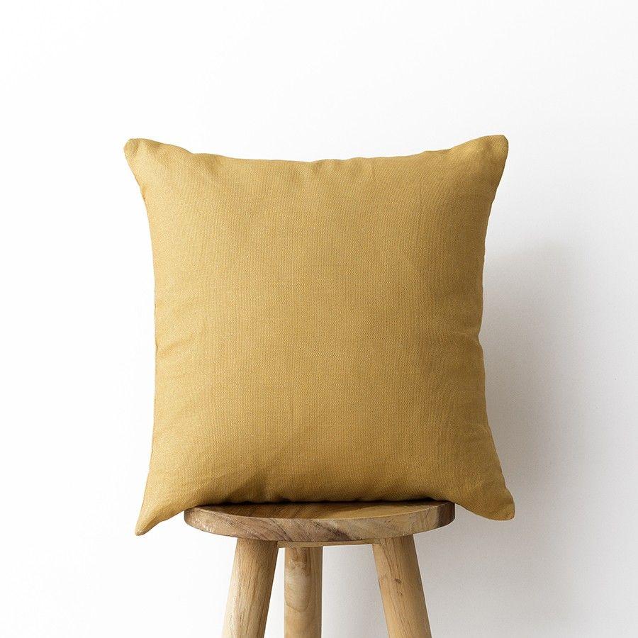 Lino cuscino ocre 45x45