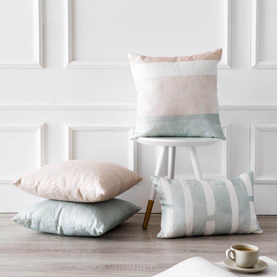 Lino cuscino acqua 45x45