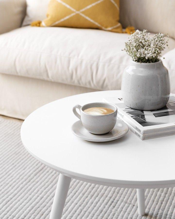 Nord tavolino 60 cm bianca