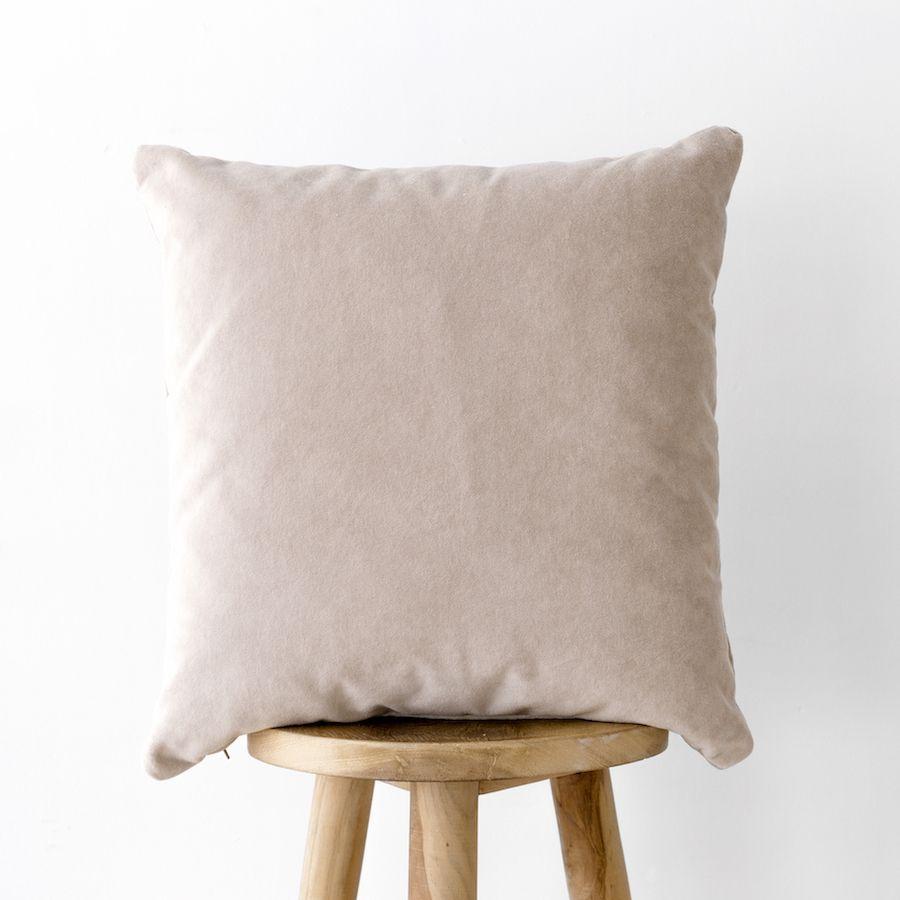 Velvet cuscino naturale