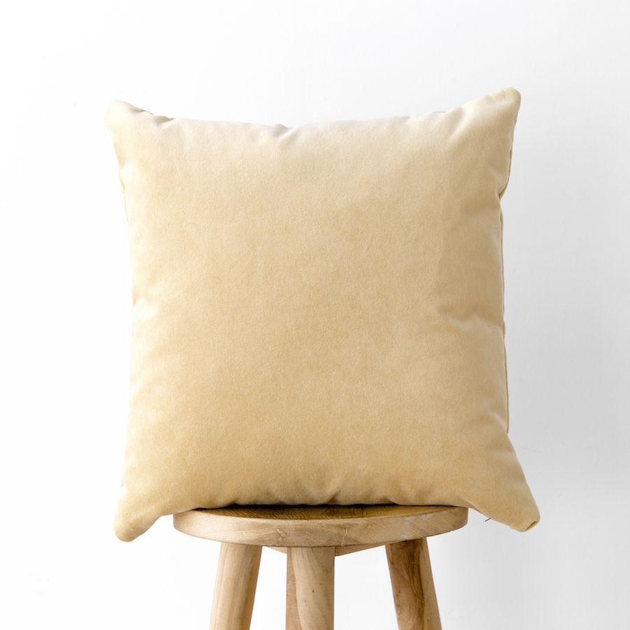 Velvet cuscino giallo