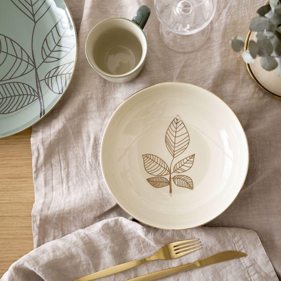 Piatto decorato foglie Daun