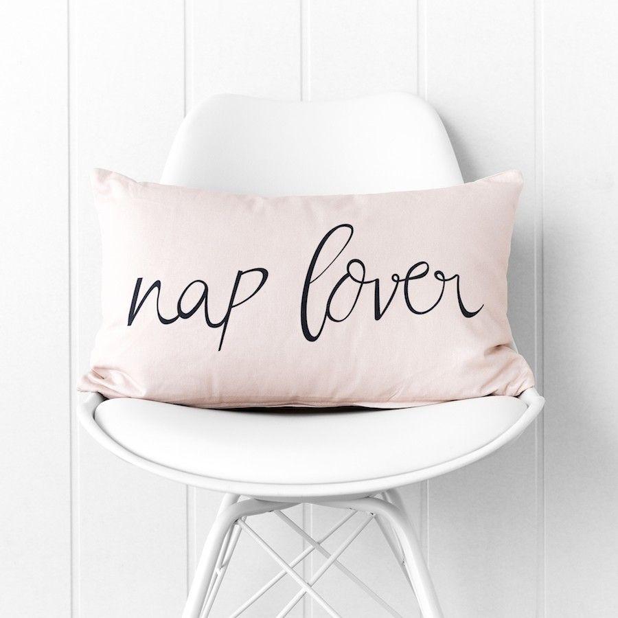 Nap lover cuscino rosa 30x50