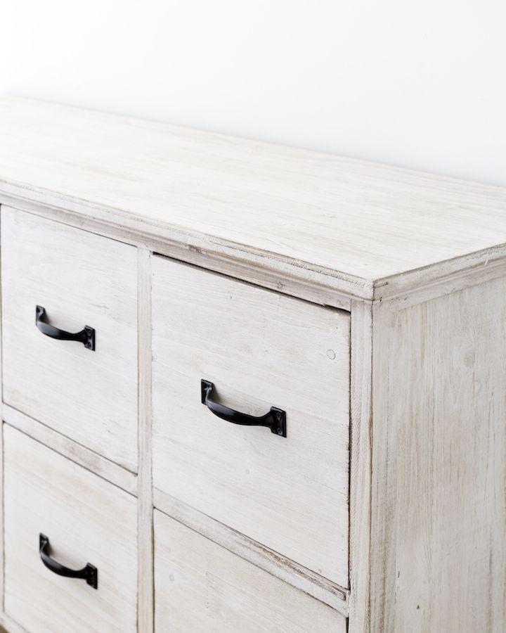 Candela cassettiera Bianco sverniciato