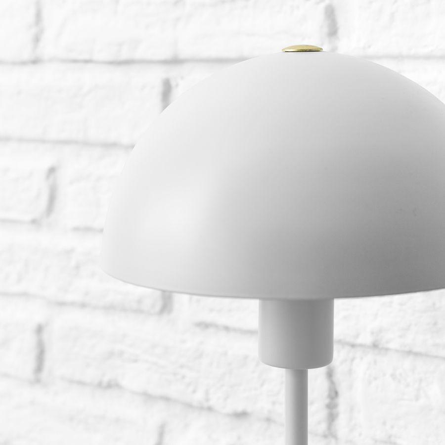 Mush lámpara de sobremesa blanca