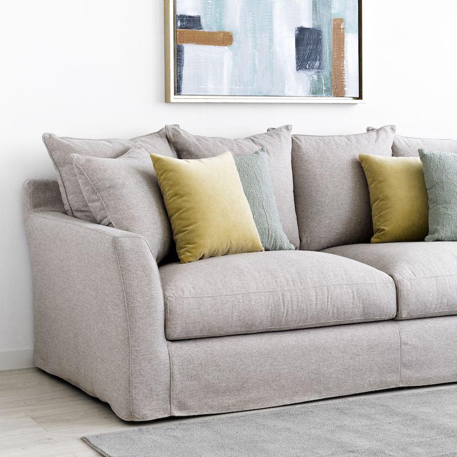 Soul divano grigio rivestito varietà di grandezze - Kenay Home