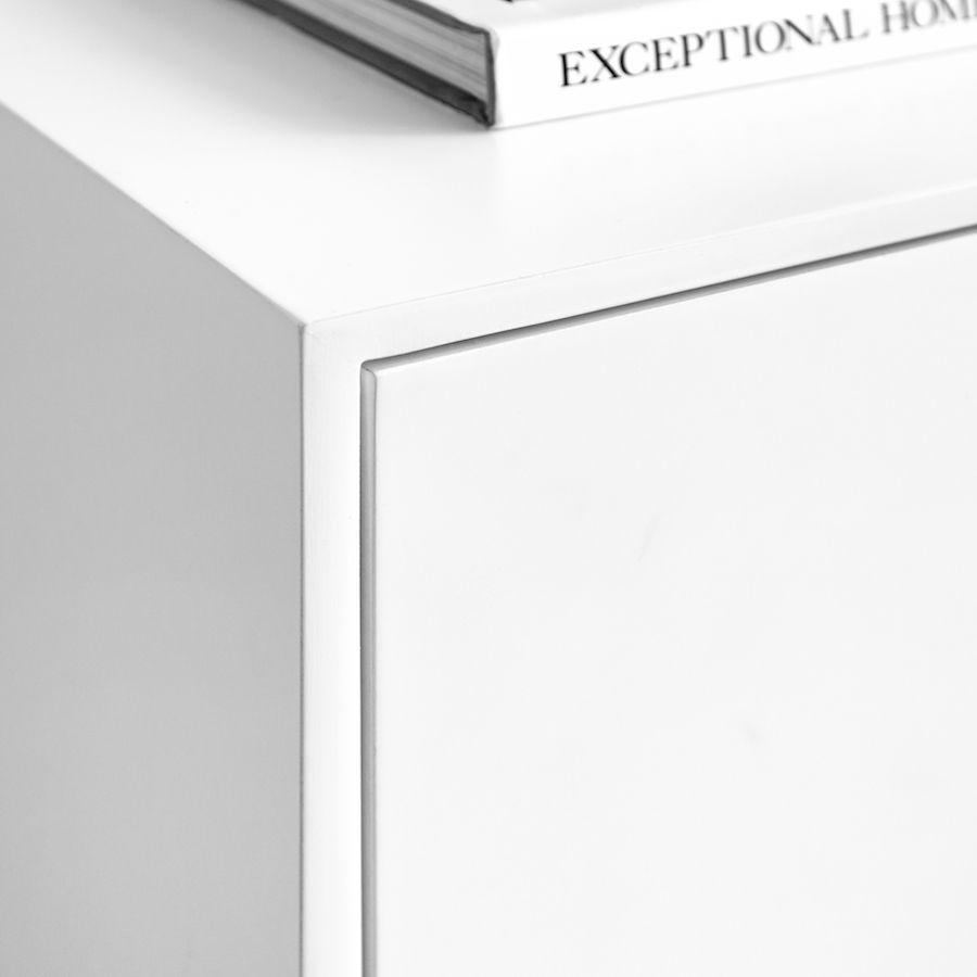 Lure cassettiera 4 cassetti bianca