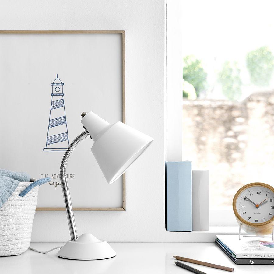 Colom lampada da tavolo bianca