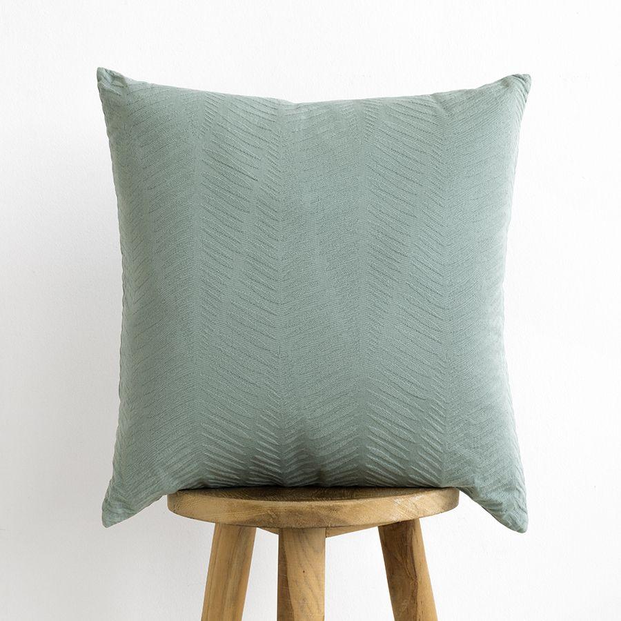Fall cuscino mineral blue quadrato con consistenza
